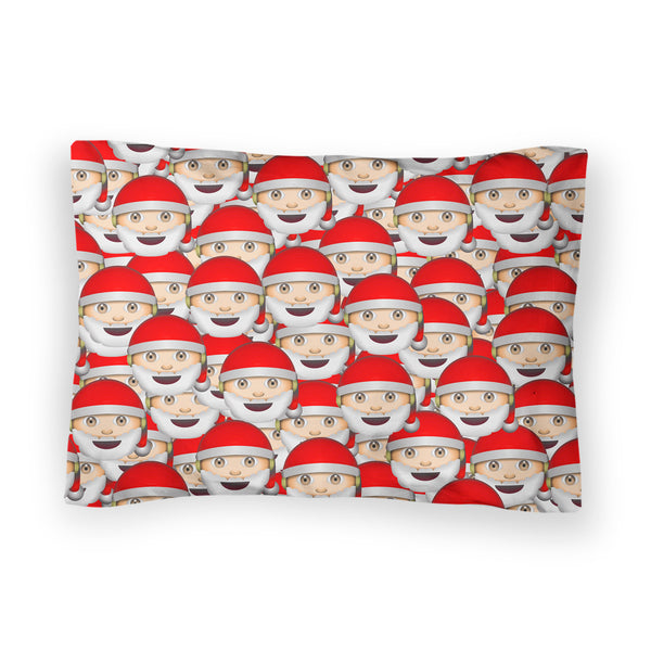 Emoji Santa Invasion Bed Pillow Case-Shelfies-| All-Over-Print Everywhere - Designed to Make You Smile