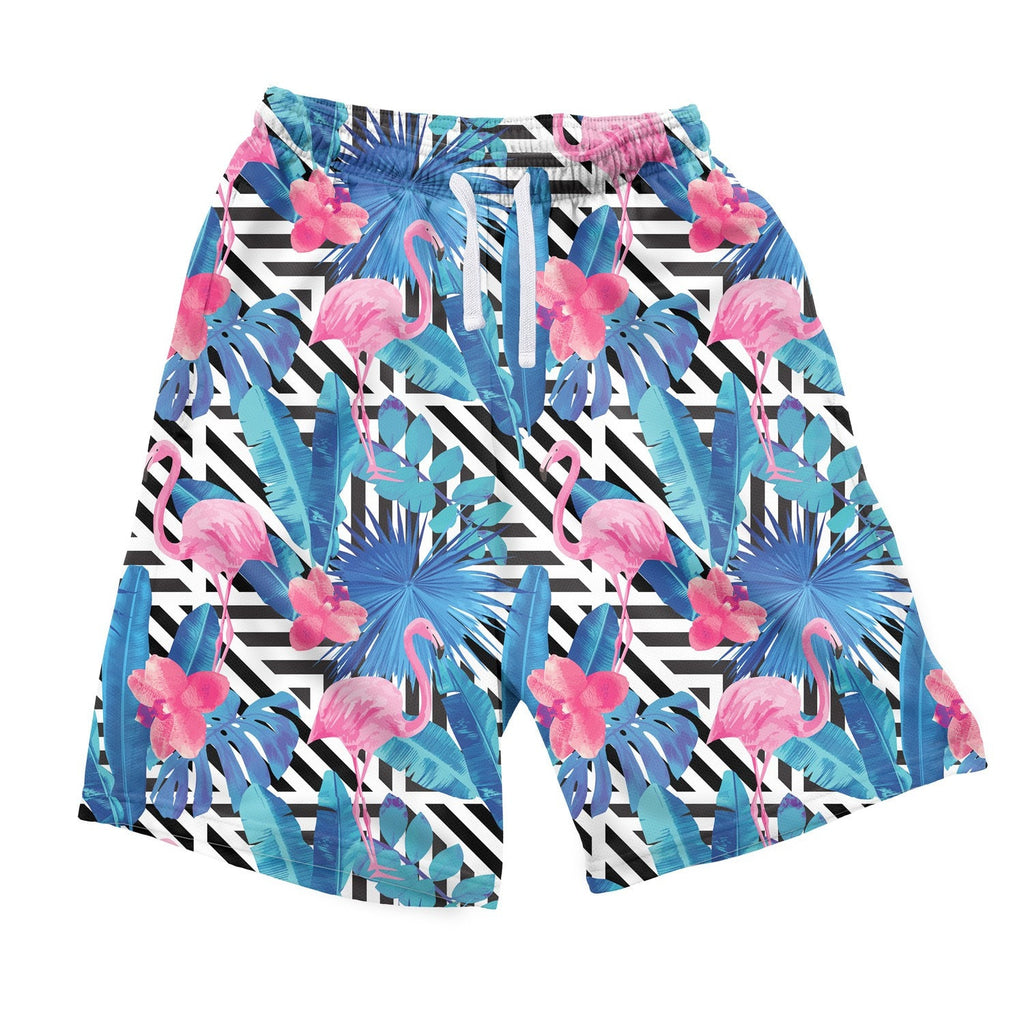 LA Flamingo Men's Shorts-Shelfies-| All-Over-Print Everywhere - Designed to Make You Smile
