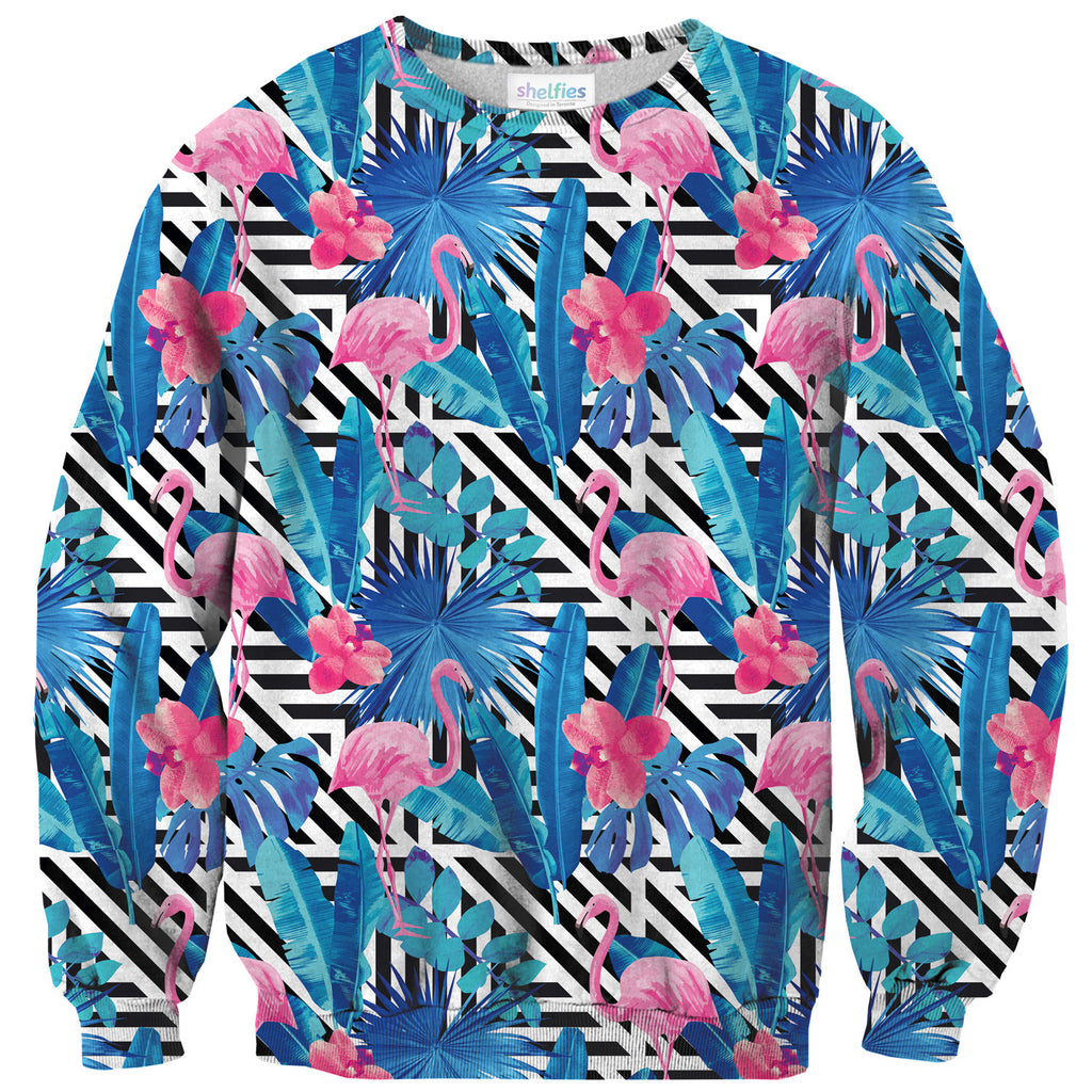 LA Flamingo Sweater-Shelfies-| All-Over-Print Everywhere - Designed to Make You Smile