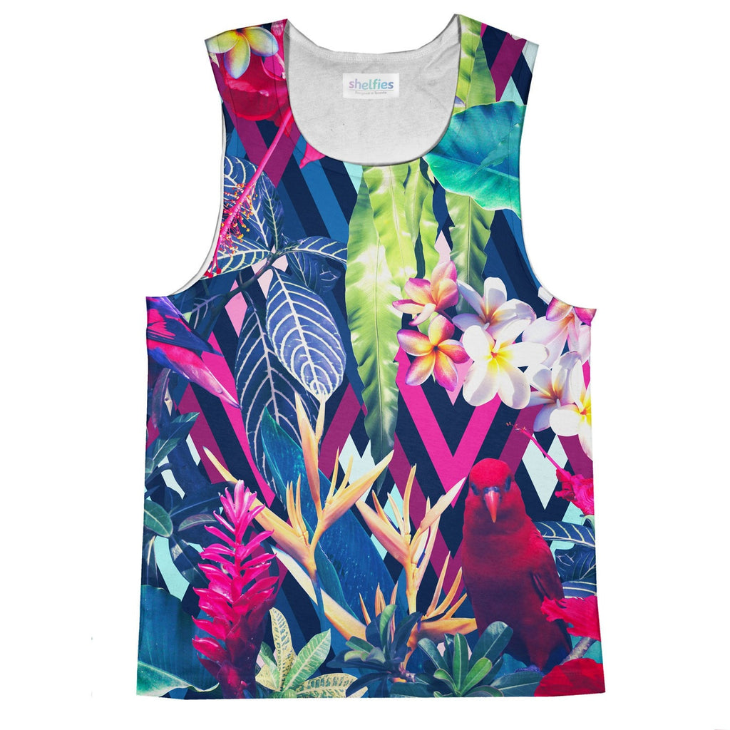 Floral Bird Tank Top-kite.ly-| All-Over-Print Everywhere - Designed to Make You Smile