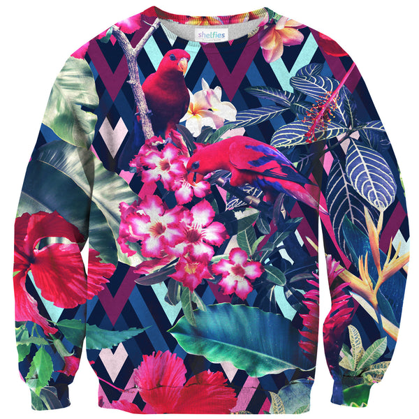 Floral Bird Sweater-Shelfies-| All-Over-Print Everywhere - Designed to Make You Smile