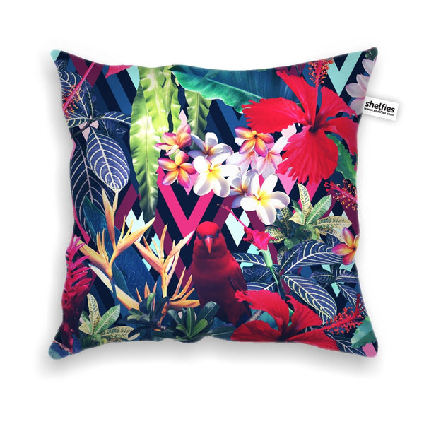 Floral Bird Throw Pillow Case-Shelfies-| All-Over-Print Everywhere - Designed to Make You Smile