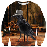 Fancy Crow Sweater-Shelfies-| All-Over-Print Everywhere - Designed to Make You Smile