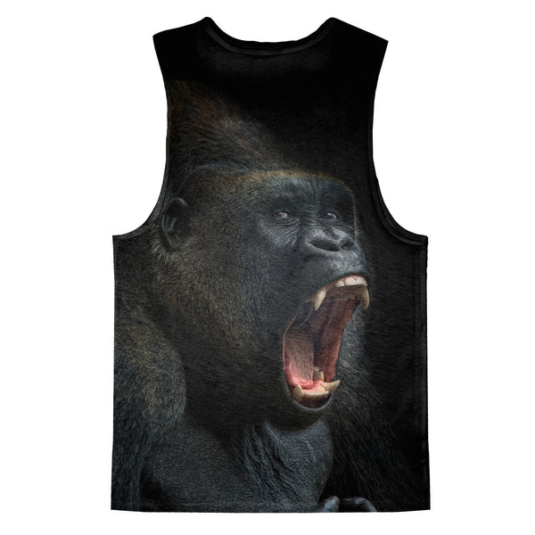 Gorilla Face Tank Top-kite.ly-| All-Over-Print Everywhere - Designed to Make You Smile