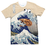 Great Wave of Cookie Monster T-Shirt-Subliminator-| All-Over-Print Everywhere - Designed to Make You Smile