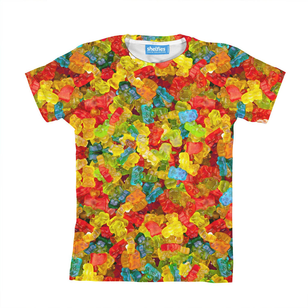 Gummy Bears Invasion Youth T-Shirt-kite.ly-| All-Over-Print Everywhere - Designed to Make You Smile
