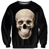 Human Skull Sweater-Shelfies-| All-Over-Print Everywhere - Designed to Make You Smile