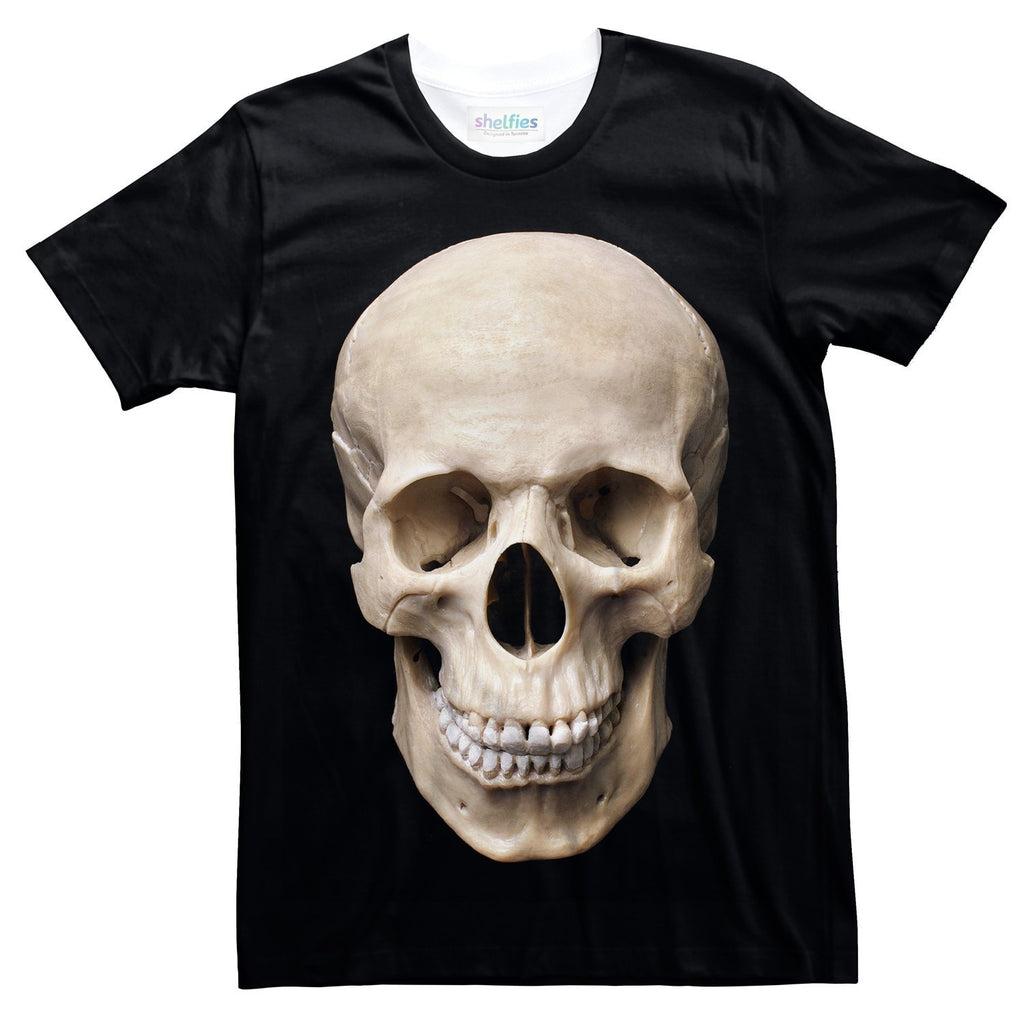 Human Skull T-Shirt-Shelfies-| All-Over-Print Everywhere - Designed to Make You Smile