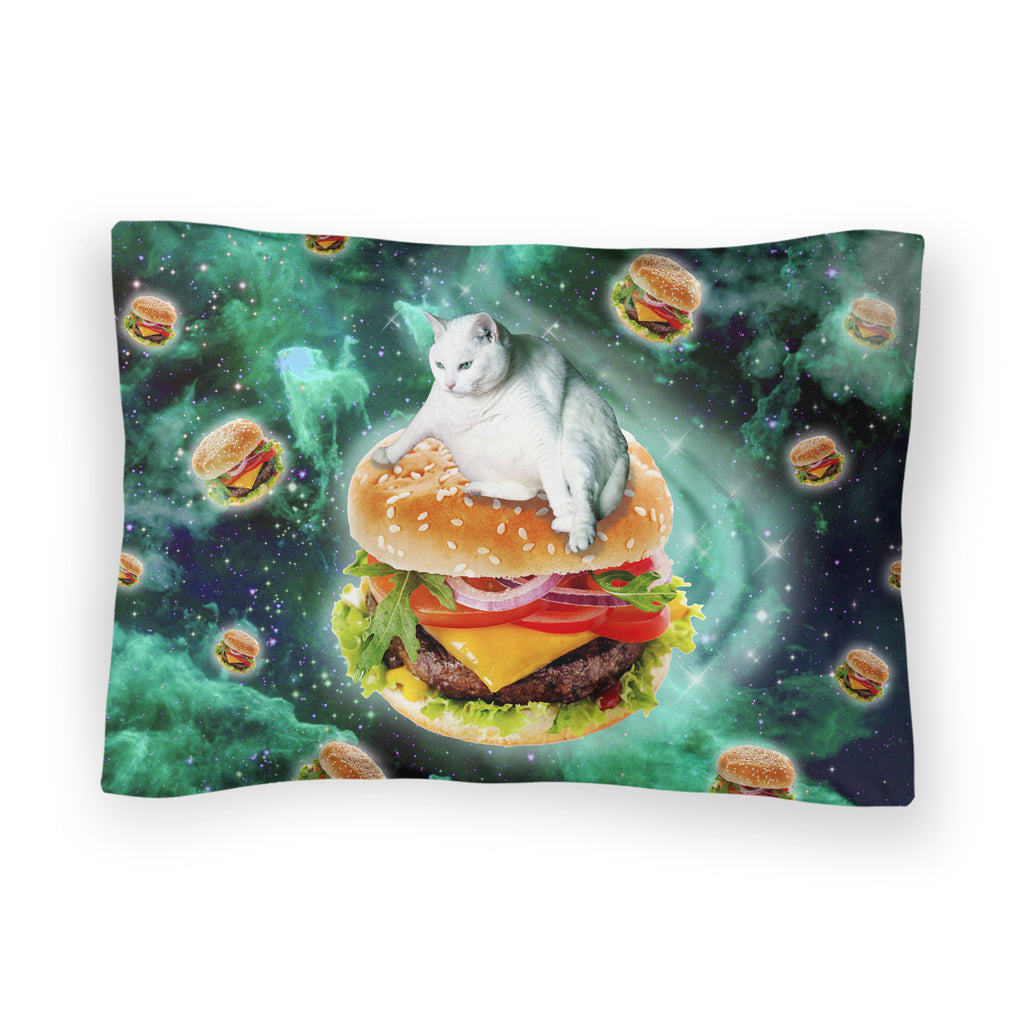Hamburger Cat Bed Pillow Case-Shelfies-| All-Over-Print Everywhere - Designed to Make You Smile