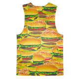 Hamburger Invasion Tank Top-kite.ly-| All-Over-Print Everywhere - Designed to Make You Smile