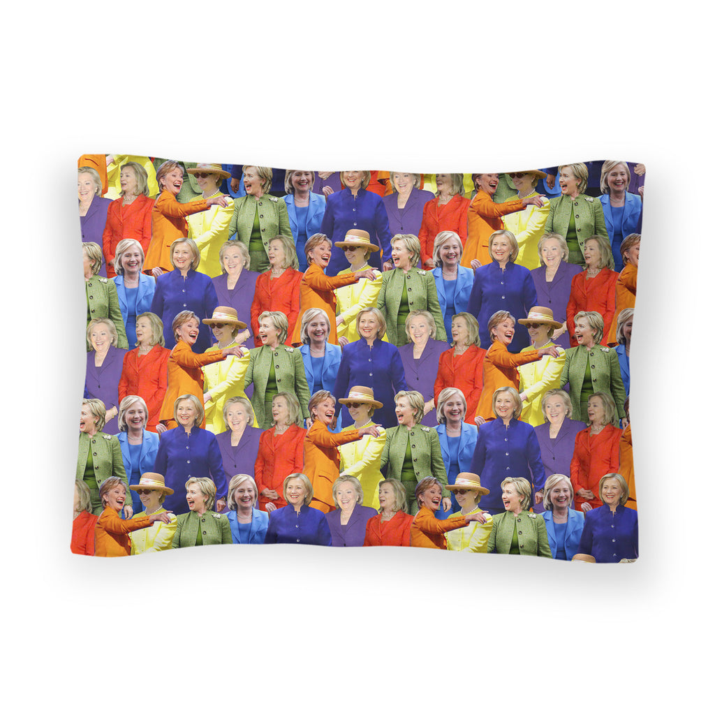 Hillary Clinton Rainbow Suits Bed Pillow Case-Shelfies-| All-Over-Print Everywhere - Designed to Make You Smile
