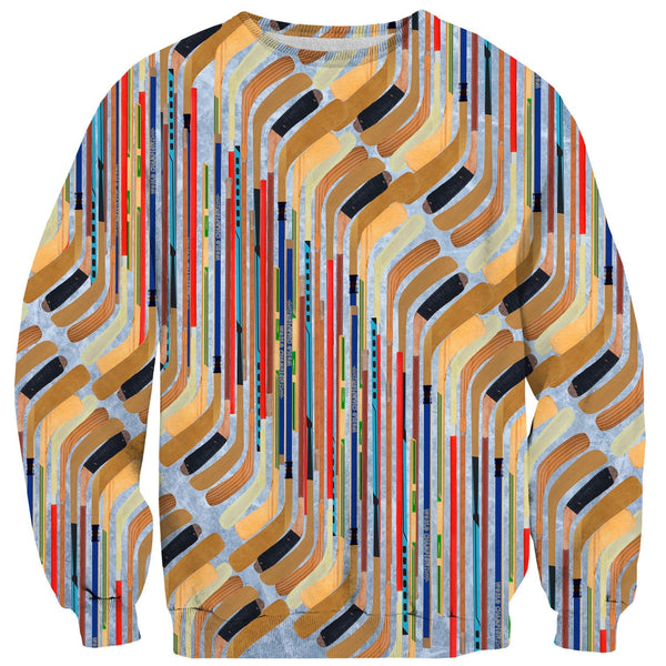 Hockey Sticks Sweater-Shelfies-| All-Over-Print Everywhere - Designed to Make You Smile