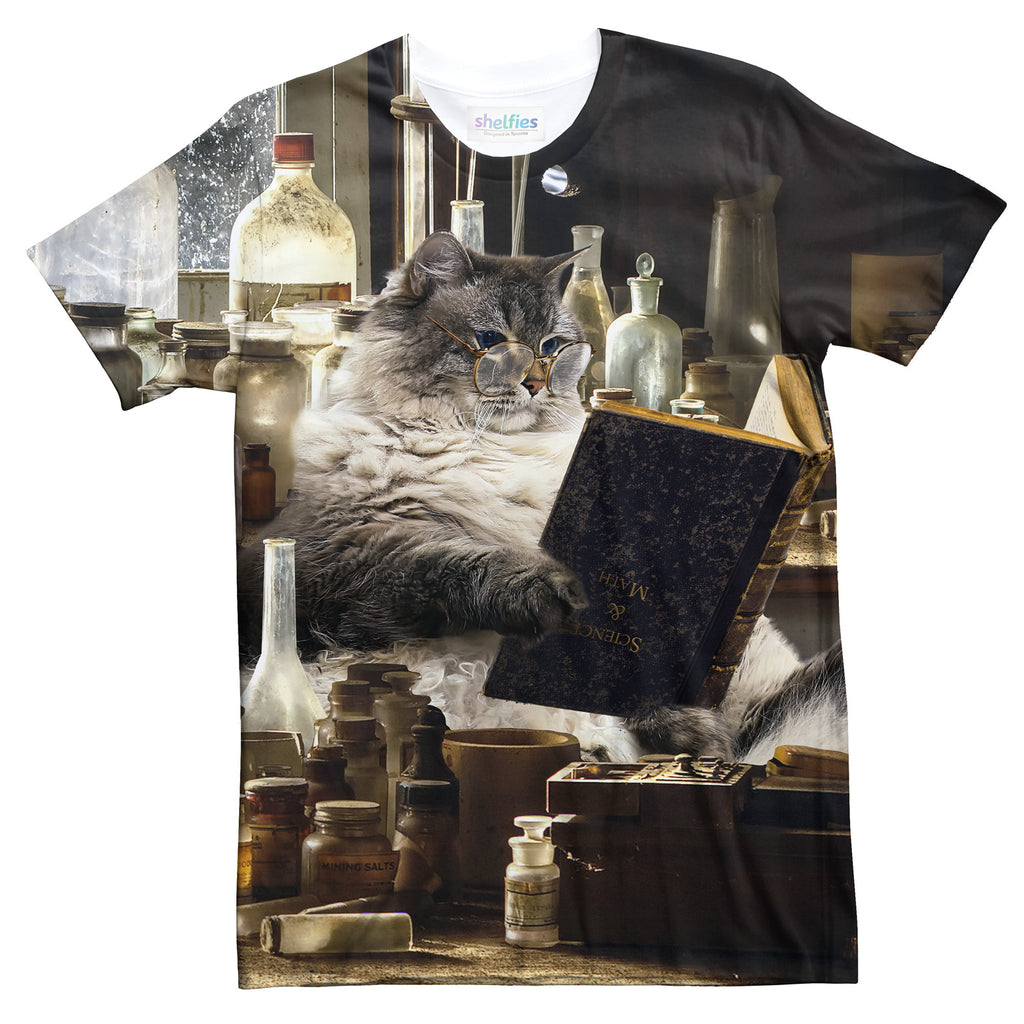 Intelligent Cat T-Shirt-Subliminator-| All-Over-Print Everywhere - Designed to Make You Smile