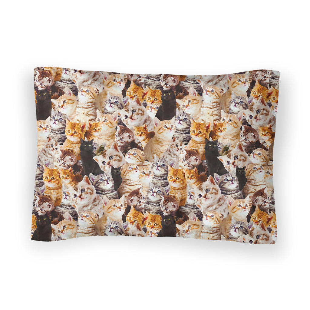 Kitty Invasion Bed Pillow Case-Shelfies-| All-Over-Print Everywhere - Designed to Make You Smile