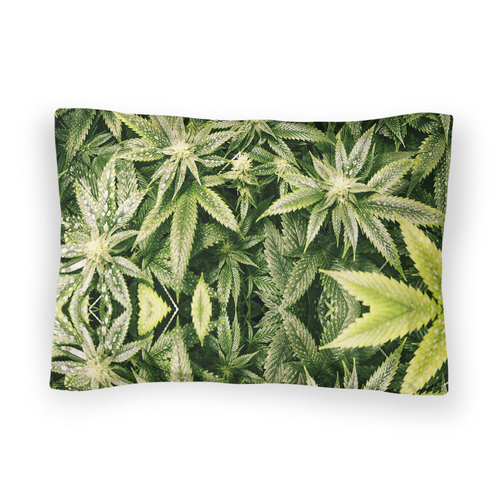 Kush Leaves Bed Pillow Case-Shelfies-| All-Over-Print Everywhere - Designed to Make You Smile