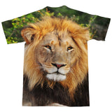 Lion Face T-Shirt - Shelfies | All-Over-Print Everywhere - Designed to Make You Smile