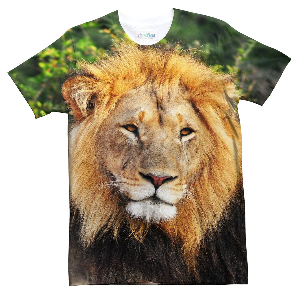 Lion Face T-Shirt-kite.ly-| All-Over-Print Everywhere - Designed to Make You Smile