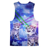 Laser Cat Tank Top-kite.ly-| All-Over-Print Everywhere - Designed to Make You Smile