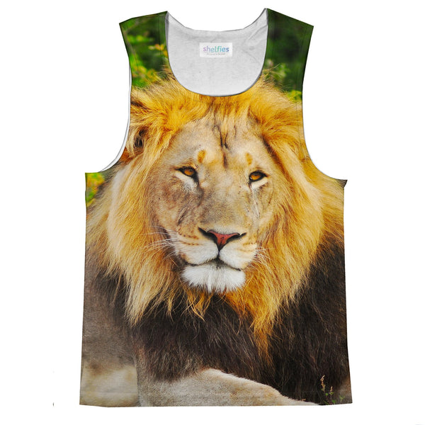 Lion Face Tank Top-kite.ly-| All-Over-Print Everywhere - Designed to Make You Smile