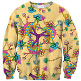 Colorful Mushrooms Sweater-Shelfies-| All-Over-Print Everywhere - Designed to Make You Smile