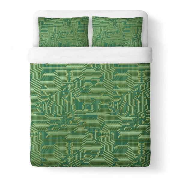 Microchip Duvet Cover-Gooten-Queen-| All-Over-Print Everywhere - Designed to Make You Smile