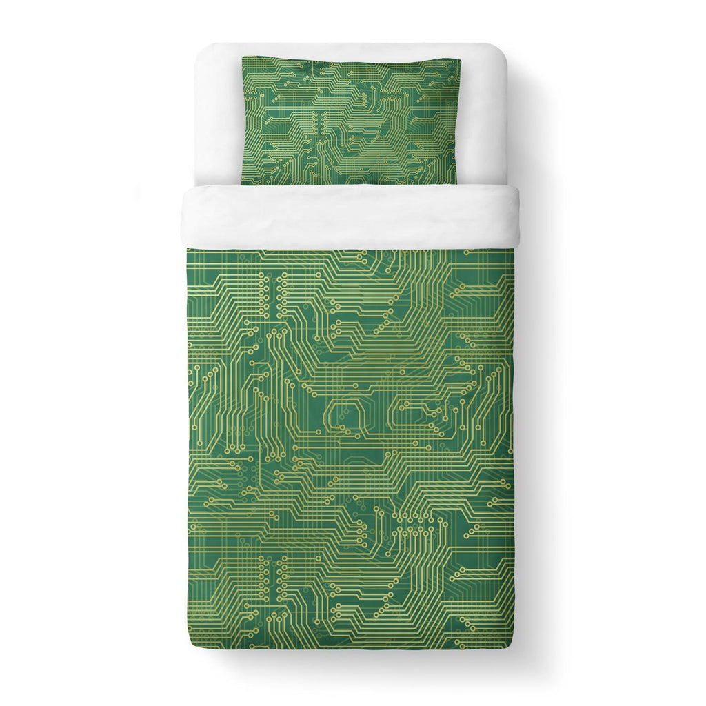 Microchip Duvet Cover-Gooten-Twin-| All-Over-Print Everywhere - Designed to Make You Smile