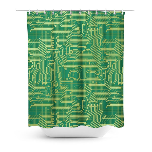 Microchip Shower Curtain-Gooten-One Size-| All-Over-Print Everywhere - Designed to Make You Smile