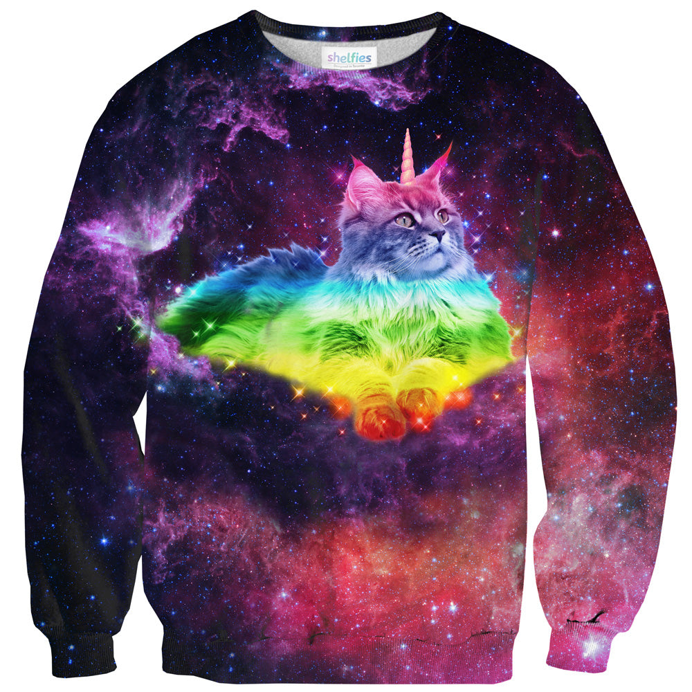 Magical Space Cat Sweater-Subliminator-| All-Over-Print Everywhere - Designed to Make You Smile