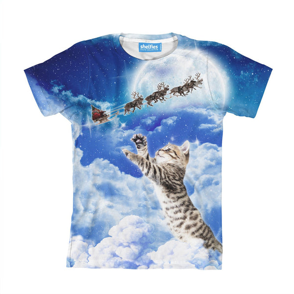 Meowy Christmas Youth T-Shirt-kite.ly-| All-Over-Print Everywhere - Designed to Make You Smile