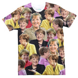 Angela Merkel Face T-Shirt-Subliminator-| All-Over-Print Everywhere - Designed to Make You Smile