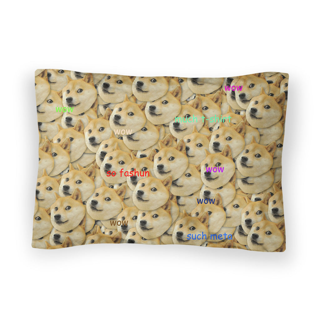 "Doge ""Much Fashun"" Invasion Bed Pillow Case-Shelfies-