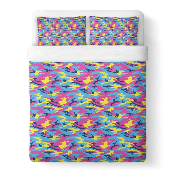 Neon Camo Duvet Cover-Gooten-Queen-| All-Over-Print Everywhere - Designed to Make You Smile