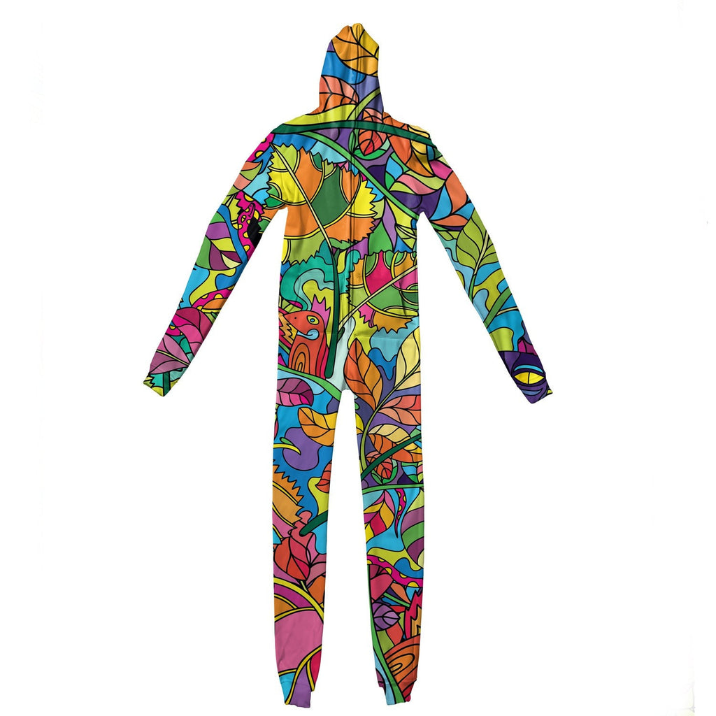 Neon Forest Adult Jumpsuit-Shelfies-| All-Over-Print Everywhere - Designed to Make You Smile