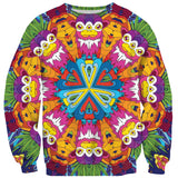 Neon Jungle Sweater-Shelfies-| All-Over-Print Everywhere - Designed to Make You Smile
