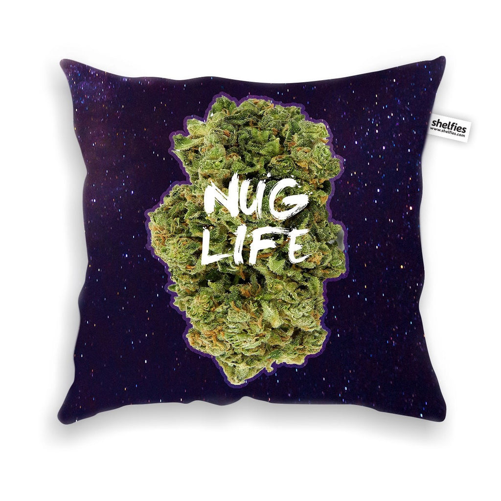 Nug Life Throw Pillow Case-Shelfies-| All-Over-Print Everywhere - Designed to Make You Smile
