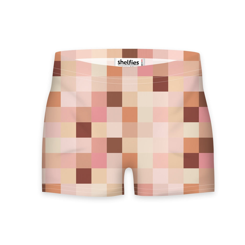 Naked Workout Shorts-Shelfies-| All-Over-Print Everywhere - Designed to Make You Smile