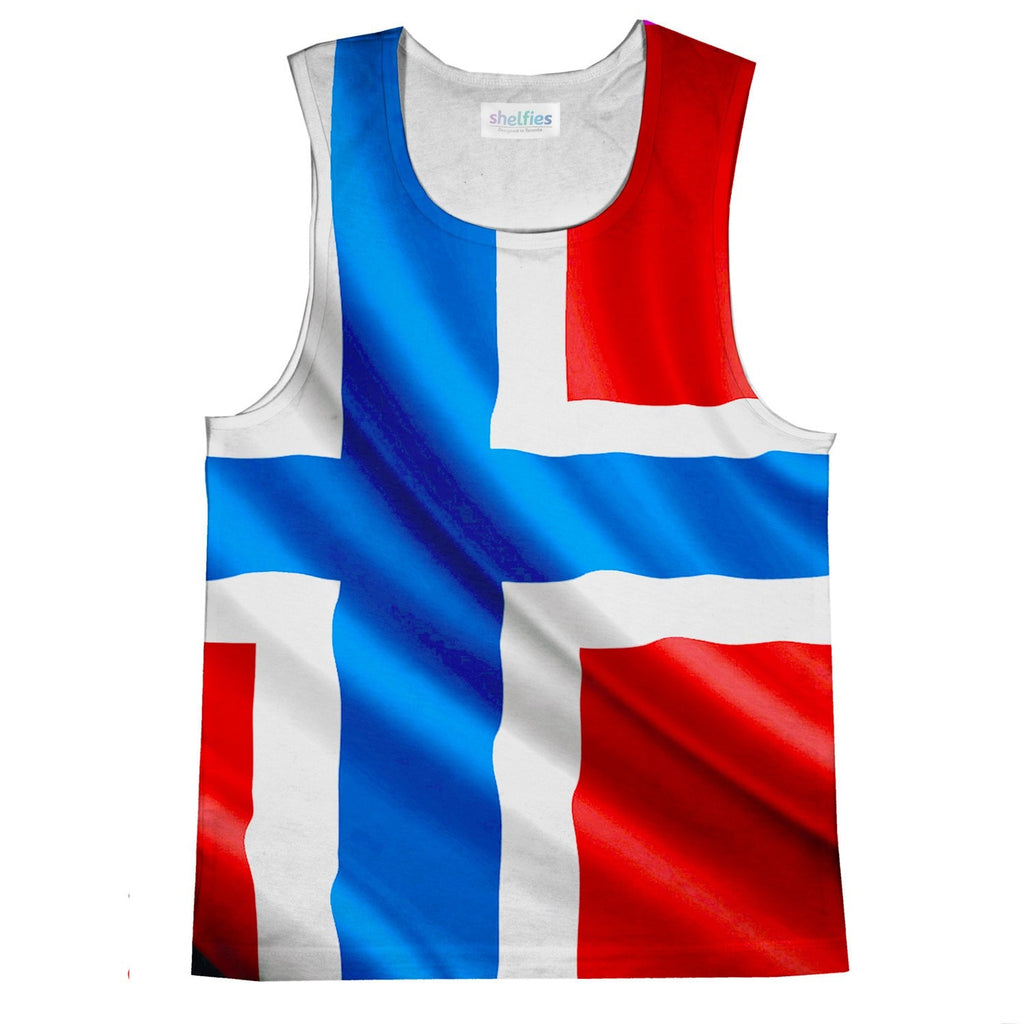 Norway Flag Tank Top-kite.ly-| All-Over-Print Everywhere - Designed to Make You Smile