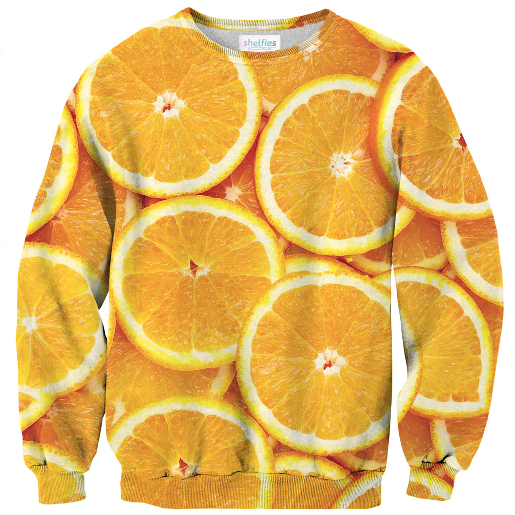 Oranges Invasion Sweater-Subliminator-| All-Over-Print Everywhere - Designed to Make You Smile