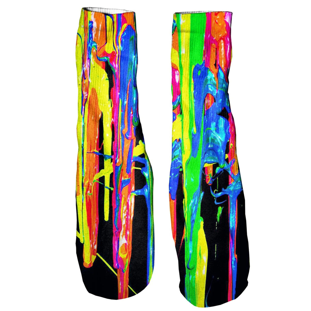 Paint Splatter Foot Glove Socks-Shelfies-One Size-| All-Over-Print Everywhere - Designed to Make You Smile