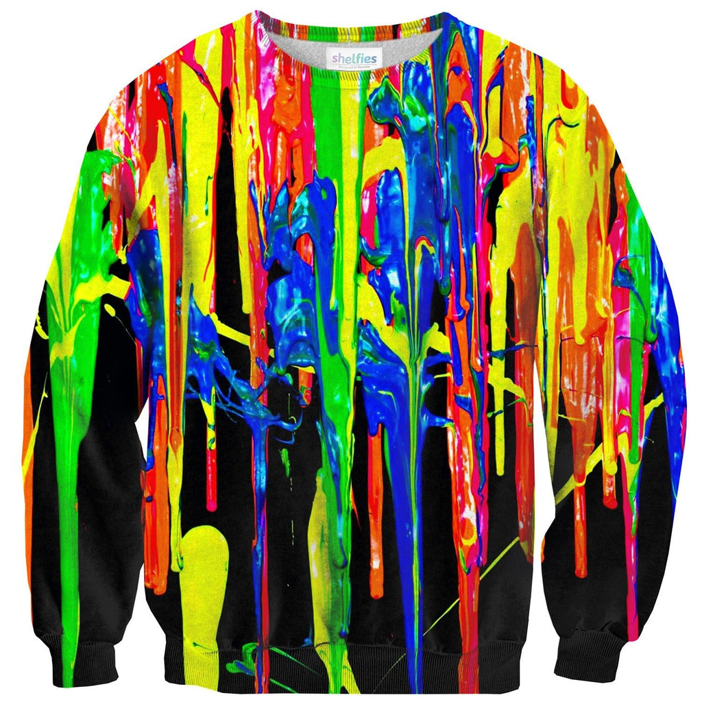 Paint Splatter Sweater-Subliminator-| All-Over-Print Everywhere - Designed to Make You Smile