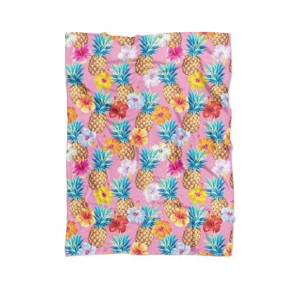 Pineapple Punch Blanket-Gooten-Cuddle-| All-Over-Print Everywhere - Designed to Make You Smile