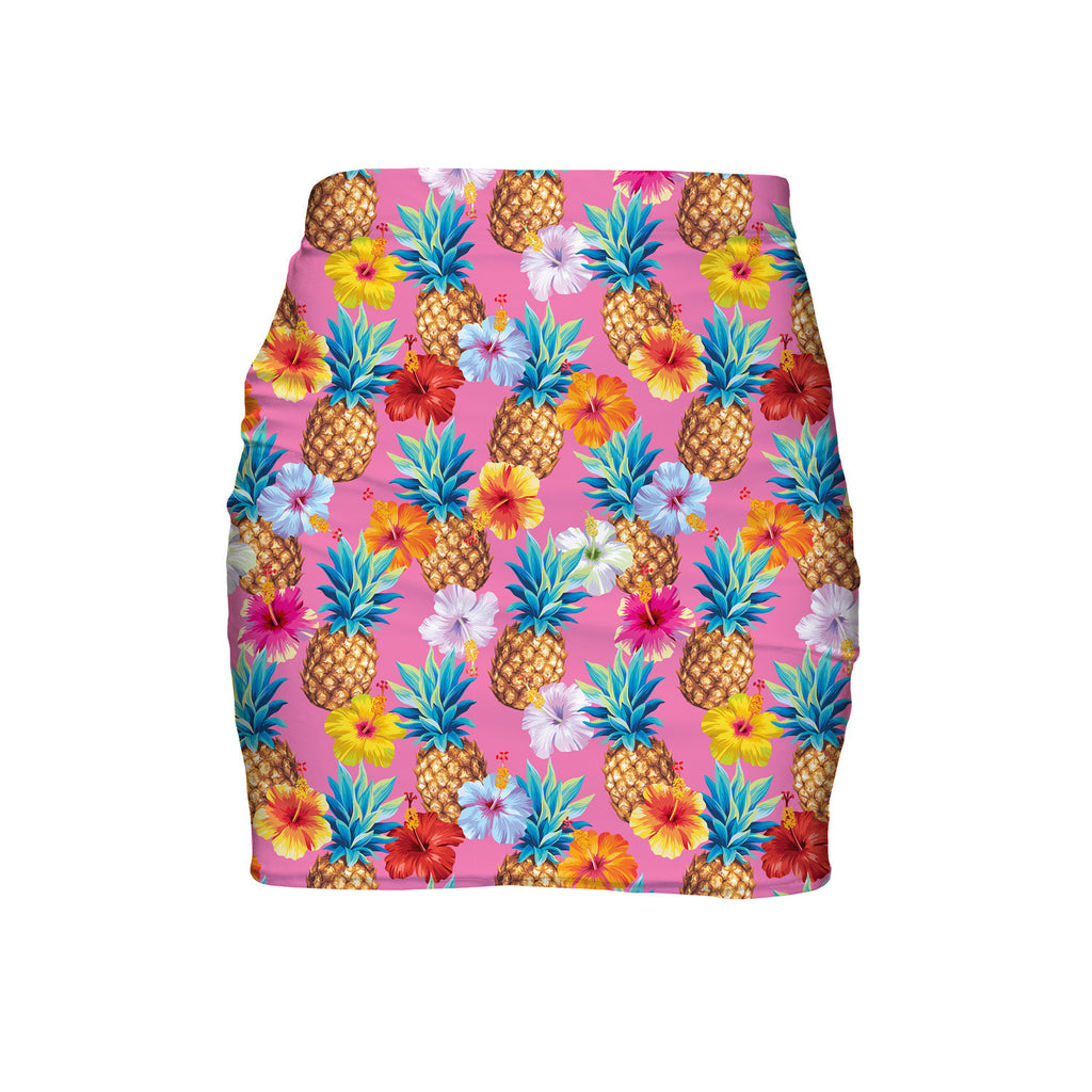 Pineapple Punch Mini Skirt-Shelfies-| All-Over-Print Everywhere - Designed to Make You Smile