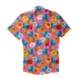 Pineapple Punch Short-Sleeve Button Down Shirt-Shelfies-| All-Over-Print Everywhere - Designed to Make You Smile