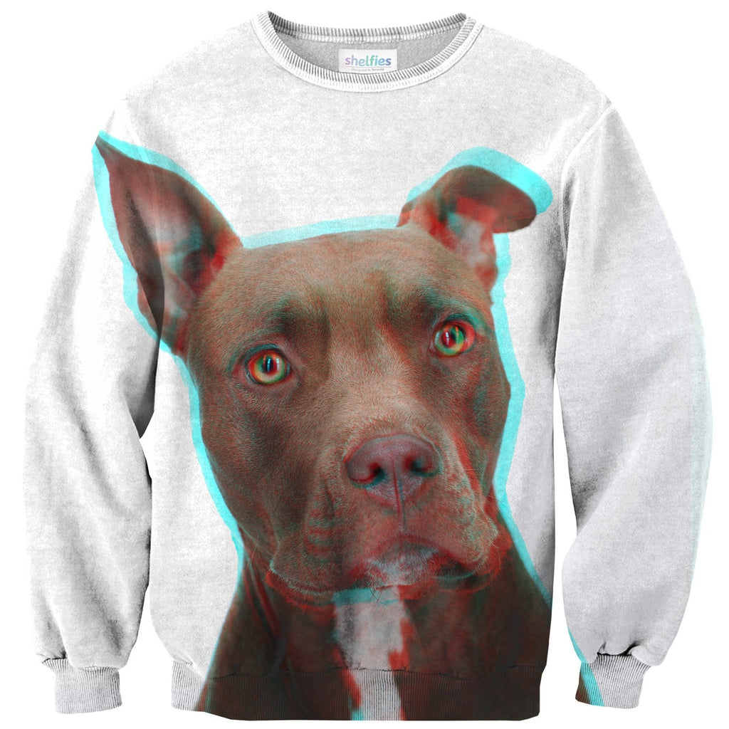 3D Pitbull Sweater-Shelfies-| All-Over-Print Everywhere - Designed to Make You Smile