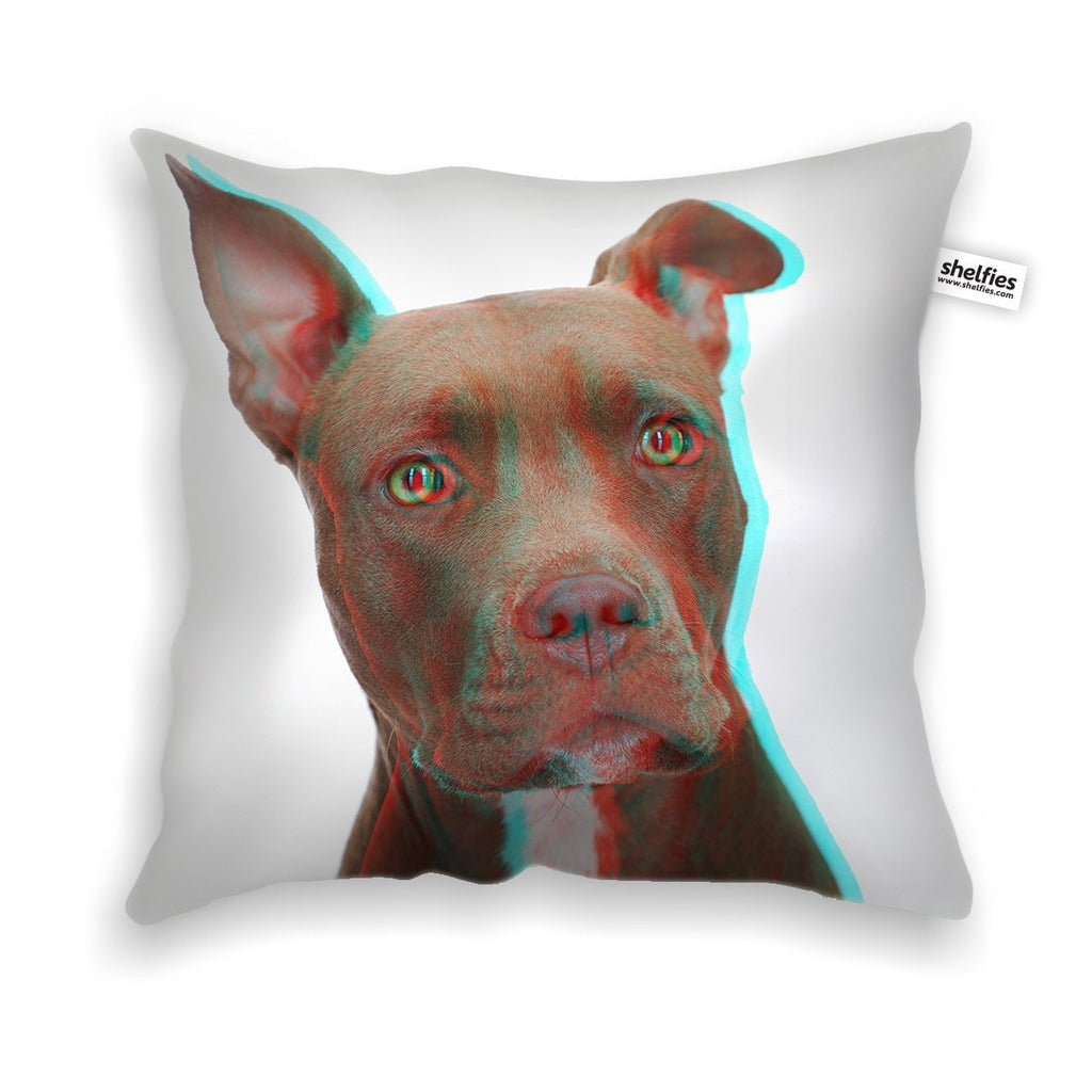 3D Pitbull Throw Pillow Case-Shelfies-| All-Over-Print Everywhere - Designed to Make You Smile