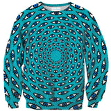 Psychedelic Eyes Sweater-Subliminator-| All-Over-Print Everywhere - Designed to Make You Smile