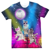 Party Cats T-Shirt-Subliminator-| All-Over-Print Everywhere - Designed to Make You Smile