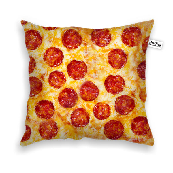 Pizza Invasion Throw Pillow Case-Shelfies-Velveteen-White-| All-Over-Print Everywhere - Designed to Make You Smile