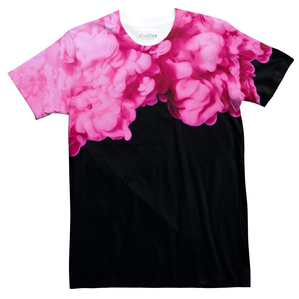 Pink Smoke T-Shirt-Shelfies-| All-Over-Print Everywhere - Designed to Make You Smile