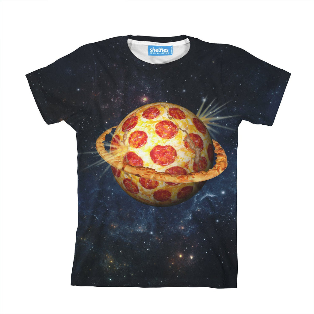 Planet Pizza Youth T-Shirt-kite.ly-| All-Over-Print Everywhere - Designed to Make You Smile